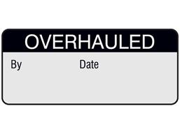 Overhauled aluminium foil labels.