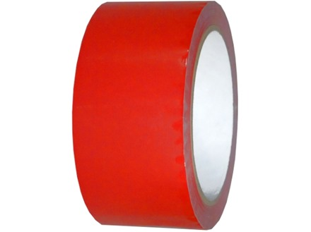 Plain red pipeline identification tape.