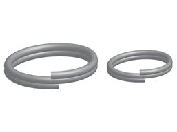 Nickel plated steel split rings