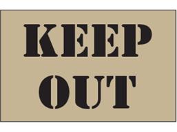 Keep out heavy duty stencil