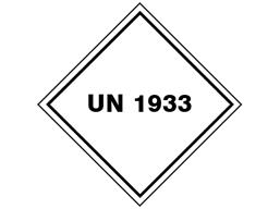 UN 1933 Labels (Flammable Liquid, Xylene)
