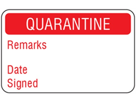 Quarantine Quality Assurance Label Zl1070 Label Source