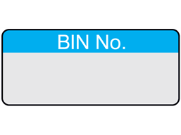 Bin number aluminium foil labels.