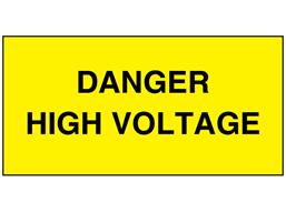 Danger high voltage electrical warning label