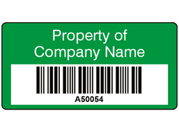 Scanmark+ barcode label (text on colour), 19mm x 38mm