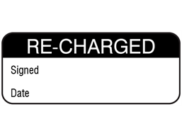 Re-charged maintenance label.