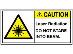 Caution laser radiation do not stare label
