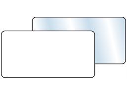 Plain temporary label, 25mm x 50mm