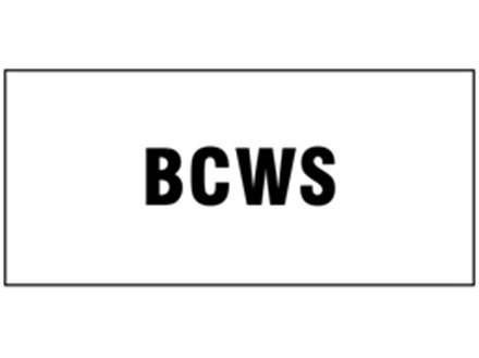 BCWS pipeline identification tape.