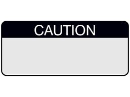 Caution aluminium foil labels.