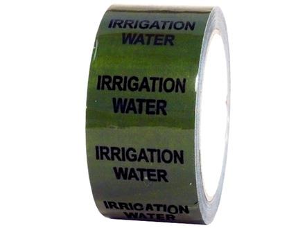 Irrigation water pipeline identification tape.