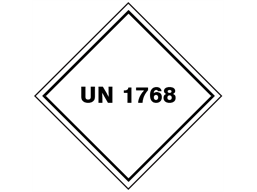 UN 1768 (Difluorophosphoric acid, anhydrous) label.