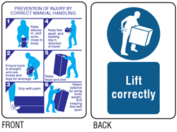 Prevention of injury by correct manual handling pocket safety guide.