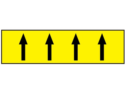 Flow indication tape for flammable liquids and gases
