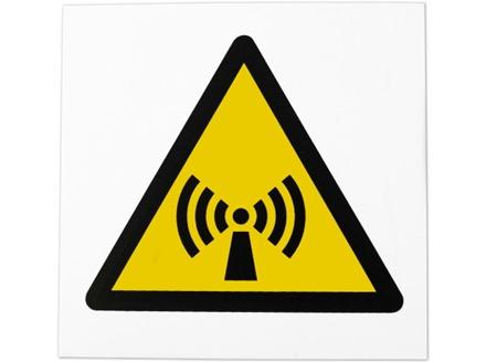 Non-ionizing radiation symbol safety sign.