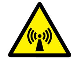 Non-ionizing radiation warning symbol label.