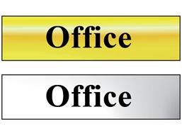 Office metal doorplate