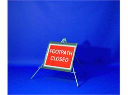 Footpath closed roll up road sign