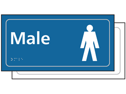 Male toilet sign.