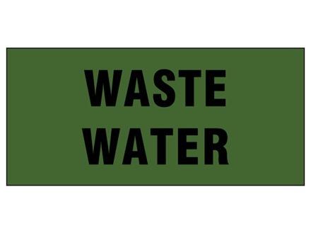 Waste water pipeline identification tape.