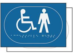 Gentlemen/Disabled toilet sign.