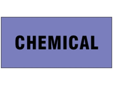 Chemical pipeline identification tape.