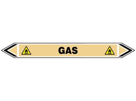 Gas flow marker label.