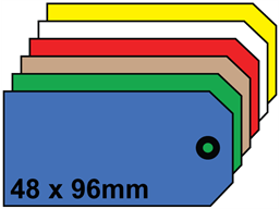 Plain tags, size 3.