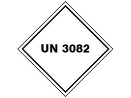 UN 3082 (Lead chromate, lead thiocyante, strontum oxalate, magnesium oxalate) label.