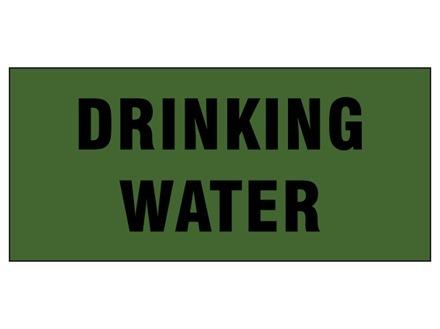 Drinking water pipeline identification tape.