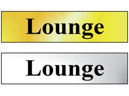 Lounge metal doorplate