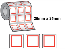 GHS hazard labels for thermal printers, 25mm x 25mm