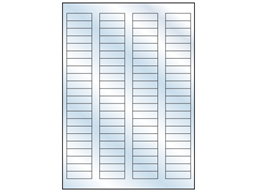 Transparent laminate labels, 12mm x 40mm
