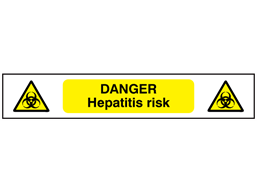 Danger Hepatitis risk symbol and text safety tape.
