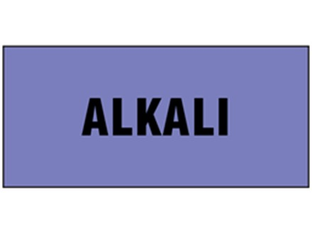 Alkali pipeline identification tape.