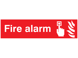 Fire alarm, mini safety sign.