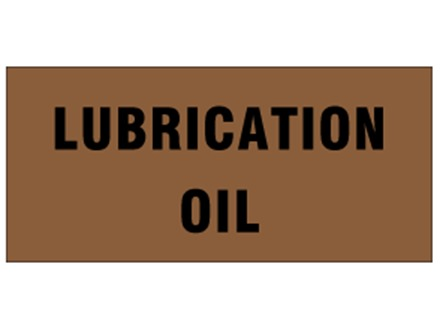 Lubrication oil pipeline identification tape.