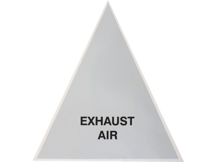 Exhaust Air (with text) Label.