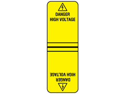 Danger high voltage cable wrap label