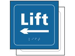 Lift, arrow left sign.
