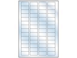 Transparent laminate labels, 20mm x 40mm