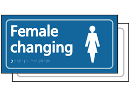 Female changing room sign.