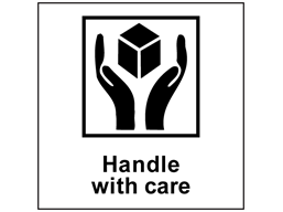 Handle with care heavy duty packaging label