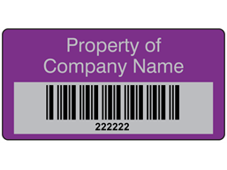 Scanmark foil barcode label (text on colour), 19mm x 38mm