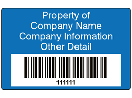 Scanmark+ barcode label (text on colour), 32mm x 50mm