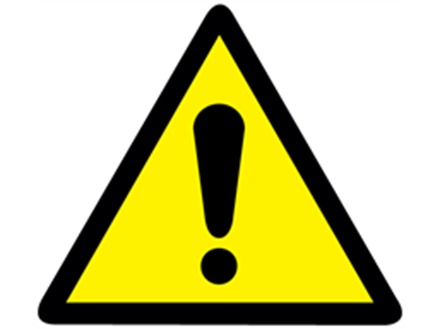 Black Label Price >> Caution Triangle Label | Yellow Triangle with Exclamation Mark