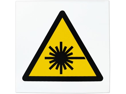 Caution laser symbol safety sign.
