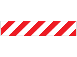 Reflective tape, red and white chevron