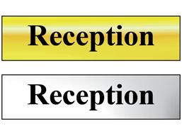 Reception metal doorplate