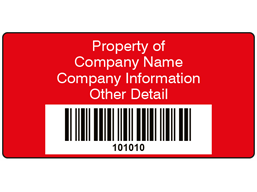 Scanmark+ barcode label (text on colour), 38mm x 76mm